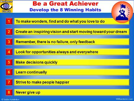 Great Achiever: 8 Winning Habits