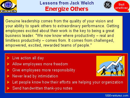 Energizing Employees (Lessons from Jack Welch)