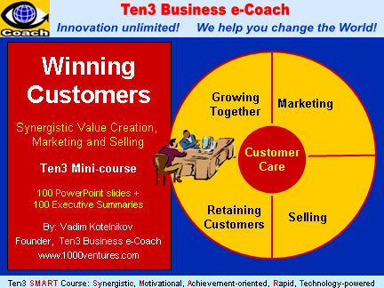 WINNING CUSTOMERS (Ten3 Mini-course and business training)
