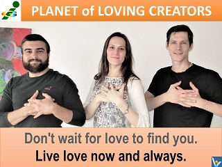 Live love now and always Innompic Planet of Loving Creators Vadim Kotelnikov Dennis Ksenia Kotelnikova Magomed Gamzatov