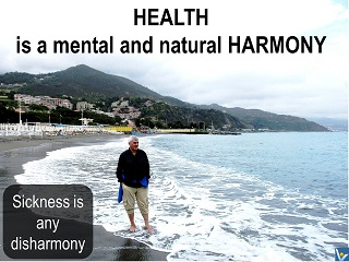 What is Health: HEALTH is a MENTAL and NATURAL HARMONY. Sickness is any disharmony. Vadim Kotelnikov advice quotes